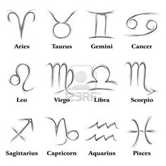Zodiac signs...would be a cool idea for a tattoo...since i'm born on the cusp of two signs, i could get both signs...maybe have them connecting somehow :)
