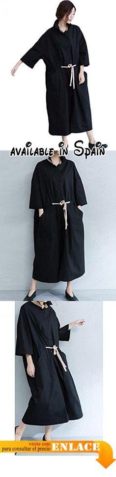 B01KQC5D9O : MatchLife - Abrigo - con botones - para mujer Style4-Schwarz Encaja 38-48.