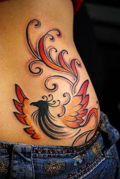 phoenix tattoo...love this one. More feminine