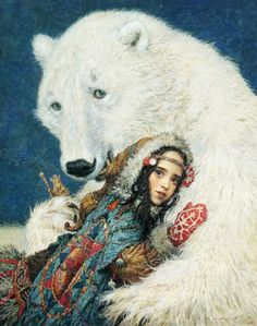 "silenidreams:    Anton Lomaev  for ""East"" Edith Pattou"