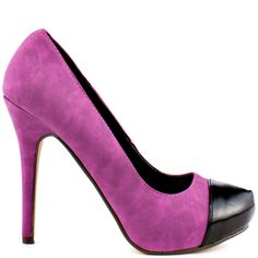 Louie heels Purple Pu brand heels Michael Antonio