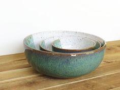 Cuencos de cerámica gres cerámica anidar en por dorothydomingo