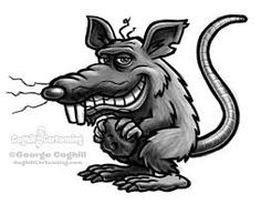 Rat cartoon character for today's daily sketch.