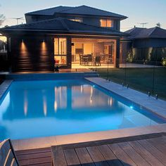 View Crystal pools swimming pool designs gallery featuring a range of pool types. Each pool provides high quality photographs, pool descriptions and specifications. Glass Pool Fencing, Pool Fence, Glass Fence, Swimming Pool Designs, Swimming Pools, Sims, Cheap Pool, Rectangle Pool, Family Pool