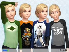 Star wars collection for boys.  Found in TSR Category 'Sims 4 Male Child Everyday'