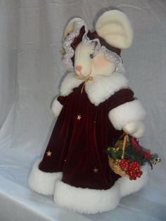 Ratones navideños moldes - Imagui Christmas 2016, Christmas Art, Christmas Decorations, Christmas Ornaments, Holiday Decor, Elves, Snowman, Mice, Dolls