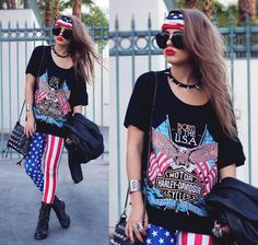 BORN IN THE USA (by Bebe Zeva) http://lookbook.nu/look/3939544-BORN-IN-THE-USA