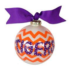 "Clemson Tigers ""Chevron"" Ornament"
