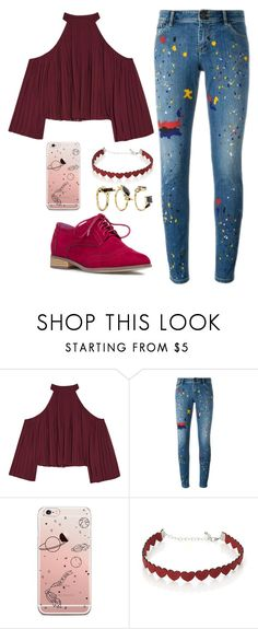 """Untitled #614"" by tumblr-outfits12 on Polyvore featuring W118 by Walter Baker, Alice + Olivia, Simons and Noir Jewelry"
