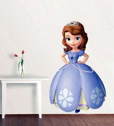 DISNEY PRINCESS SOFIA THE FIRST EXTRA LARGE WALL STICKER NURSERY BABY GIRLS ROOM
