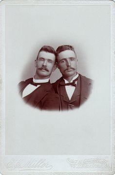 Portrait of two men, Lebanon, OH, circa 1890s