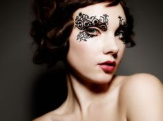 Lace face appliques For the Edgy Girl: Unusual Makeup Styles