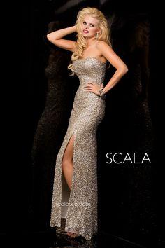 SCALA style 48421 Lead. #Prom2K15 #Spring2015 #Prom2015 #Dress #Gown #Eveningwear #PromDress www.scalausa.com