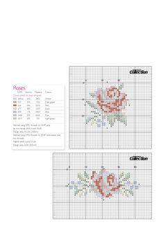 Cross stitch rose pattern for painting.