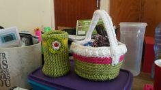 Crocheting basket