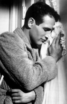 Paul Newman in a production still from Cat on a Hot Tin Roof (Richard Brooks, 1958)