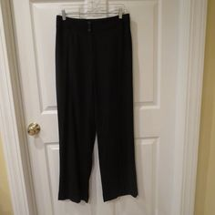New with tags and FREE SHIPPING. GREAT DEALS ARE HERE!!  Ann Taylor Loft Black/ Red Pinstripe Slacks Lined Size 8 New w/ Tags #AnnTaylorLOFT #DressPants