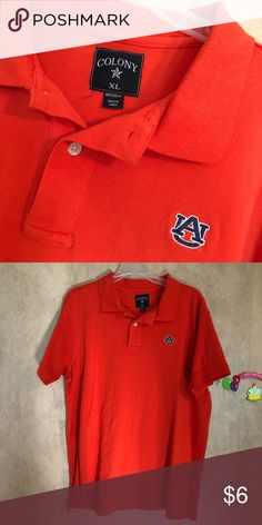 Auburn University polo shirt This is a good condition size XL and has embroidered AU for Auburn University colony Shirts Polos