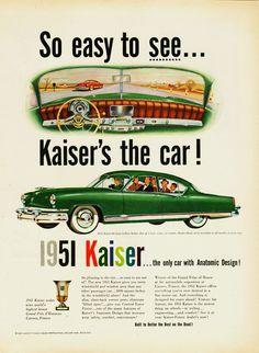 1951 Kaiser Deluxe Four Door Sedan