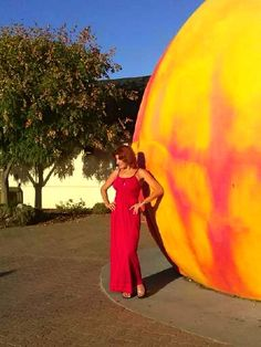 Me and the giant peach!