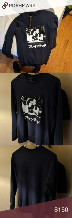Brain Dead Japanese print graphic sweatshirt Retailed for 220, now sold out. Condition is 9/10. 100% cotton. Brain Dead Sweaters Crewneck