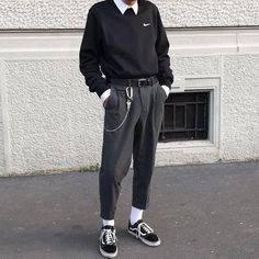 F y h on 1 2 3 or 4 classy outfit vision for more content! Edgy Outfits, Grunge Outfits, Mode Outfits, Retro Outfits, Classy Outfits, Vintage Outfits, Tomboy Dresses, Summer Outfits, Aesthetic Fashion