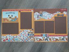 Dog Scrapbook Layouts, Scrapbook Sketches, Scrapbooking Ideas, Scrapbook Pages, Kiwi Lane Designs, Creative Memories, Photo Layouts, Making Memories, Scrapbooks