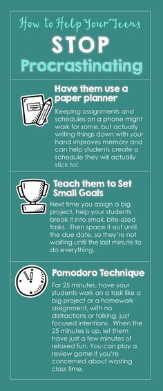 How to Help Teen Students Stop Procrastinating- How many times in your life have you put off an important task? You knew it had to be done, but you still avoided it until the last minute; procrastination won. Most adults, even ones who are very capable and hardworking, have a problem with procrastination. Of course, as you probably know, your students do, as well. Why not teach them how to overcome procrastination, now? High School Classroom, Math Classroom, Classroom Ideas, Teaching Tips, Teaching Math, Sixth Grade Math, Inquiry Based Learning, Effective Learning, Secondary Math