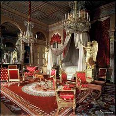 Chateau de Compiegne, Picardie, France ~ bedroom of Empress Marie-Louise