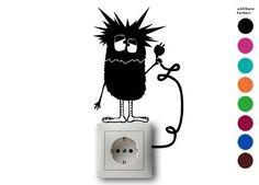 Weiteres - Steckdose Monster - Wandtatoo, Lichtschalter - ein Designerstück von zackzack bei DaWanda
