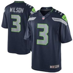 Mens Seattle Seahawks Russell Wilson LIMITED Team Color Jersey 2a28a1b65