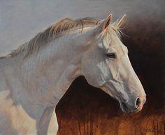 Saqquara horse portrait by Peter Stewart Oil
