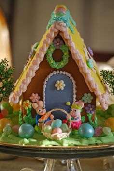Spring renewal - our updated Easter Gingerbread Houses!