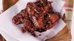 Spicy Sticky Port and Candied Walnut Wings Recipe | The Chew - ABC.com