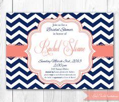Bridal Shower Invitation  Chic Chevron in by HauteChocolateFavors, $14.00