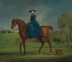 The Countess of Coningsby in the Costume of the Charlton Hunt by George Stubbs, ca. 1760