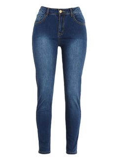 Blue Denim High Waist Butt Lift Jeans_Butt Lifting Skinny Jeans_Women Jeans_Sexy Lingeire | Cheap Plus Size Lingerie At Wholesale Price | Feelovely.com