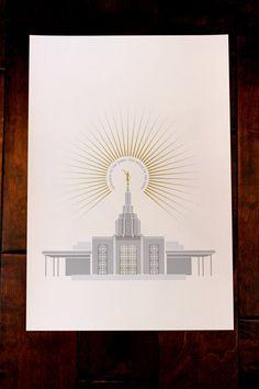 Idaho Falls Idaho LDS Temple 13x19 print by FineFettleStudio, $35.00