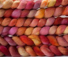 Shetland combed top 'Pinwheels' by ArtistsPaletteYarns on Etsy