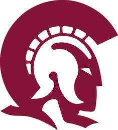 vector trojan mascot head stock illustration royalty free rh pinterest com blue trojan head logo trojan head logo vector