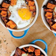 Prep the savory hash and refrigerate in individual ramekins for a quick and easy breakfast; just top with an egg and bake.