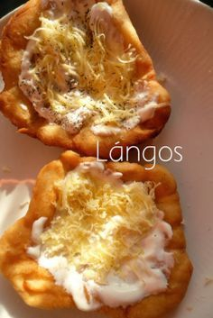 Cooking in Hungary: Hungarian Fried Bread Lángos recipe - choose vegan toppings!