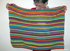 Hier kommt Teil 8 unserer Crochet Along Regenbogen Babydecke: Dieses Mal wird es wieder den allseits (besonders bei Carina) beliebsten Sternstich geben.