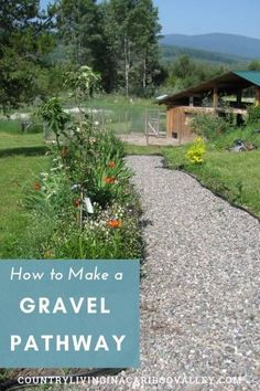 How to make a gravel path for your yard. A path for the front yard or a garden path for the backyard. Landscaping DIY project for side yards. Step by step instructions. Path Design, Landscape Design, Garden Design, Diy Garden, Garden Paths, Garden Ideas, Gravel Pathway, Gravel Garden, Walkway Garden