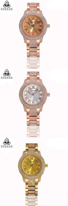 New Luxury Women Watches Rose Gold Watch Fashion Women Quartz Watch Relogio Feminino Hodinky Women