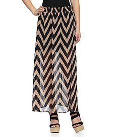 Moa Moa Chevron Maxi Skirt #Dillards~ I got a skirt just like this! adorbs!