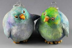 clay over an ornament -- great idea!