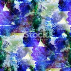 abstract avant-garde seamless blue, green wallpaper watercolor a Royalty Free Stock Photo