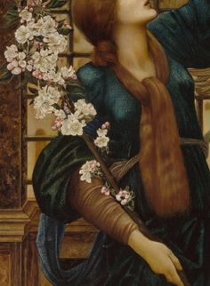 Calanthe and the Nightingale • Hope (detail), Edward Burnes-Jones, 1896 Fulton Sheen, Edward Burne Jones, Canvas 5, Art Decor, Art Drawings, Sculptures, Artsy, Feminine, Artwork