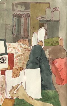 Pen & Wash. Sketchbook inspiration. Alex Beck